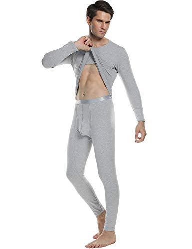 Pantaloni E Leggings Uomo Set Due Pigiama Notte Slim Loungewear Pezzi Da Manica Top Grau Moda Lunga na0wfwzq