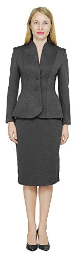 Marycrafts Women's Formal Office Business Work Jacket Skirt Suit Set 0 -