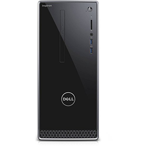 Dell Inspiron 3650 High Performace Tower Desktop, Intel Core i3-6100 Processor 3.70 GHz, 6GB DDR3L RAM, 1TB 7200RPM HDD, DVD, WIFI, Bluetooth, HDMI, VGA, Windows10 - Wave MaxxAudio Pro - Wave Tower Light