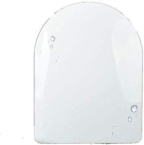 S優雅な便座U形トイレバッファーパッド付き抗菌ふた抗菌性スロークローズミュート超耐性トップマウントトイレシートカバー浴室と洗面所用、ホワイト-47 * 36 cm