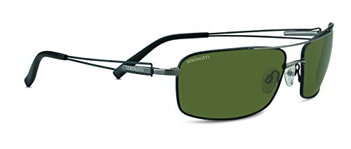 Serengeti Dante Sunglasses (7115 shiny gunmetal 555 nm ()