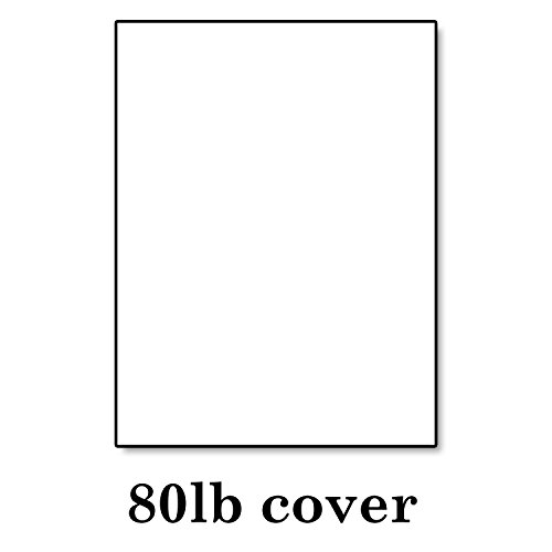 Hamilco White Cardstock Thick Paper – 8 1/2 x 11'' Blank Heavy Weight 80 lb Cover Card Stock - for Brochure Award and Stationery Printing - 50 Pack by Hamilco