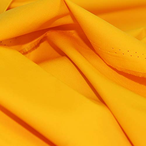 - Pre-Cut Quilting Cotton Fabric Golden Yellow Color,Good Quality Craft Cloth,DIY for Sewing Crafting 61