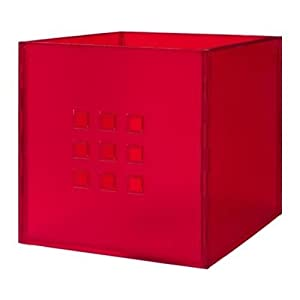 ikea lekman storage organizer box fit to kallax expedit shelf different colors red. Black Bedroom Furniture Sets. Home Design Ideas