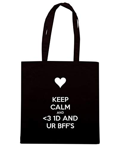 CALM AND TKC0220 KEEP Borsa 1D UR Nera 3 Shirt AND Speed Shopper BFF'S UYIOOx
