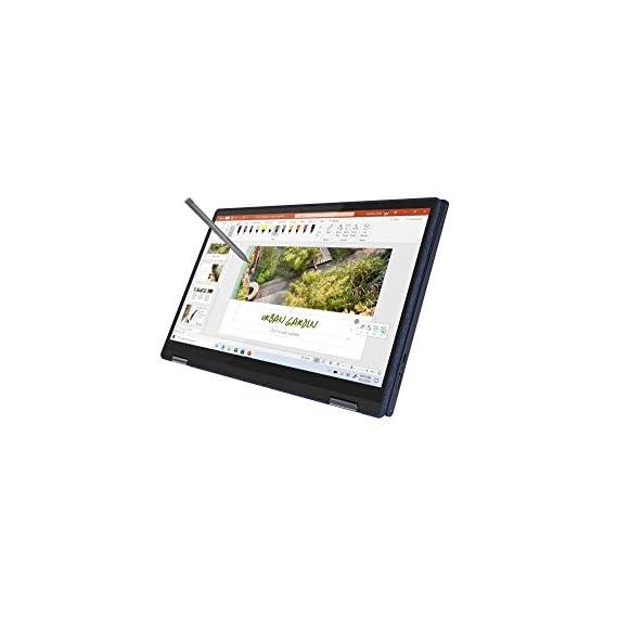 "Lenovo Yoga 6 AMD Ryzen 7 4700U 13.3"" (33.78 cms) Full HD IPS 2-in-1 Touchscreen Laptop (16GB/512GB SSD/Windows 10/MS Office 2019/Fingerprint Reader/Abyss Blue/Fabric Surface/1.32Kg), 82FN004QIN"