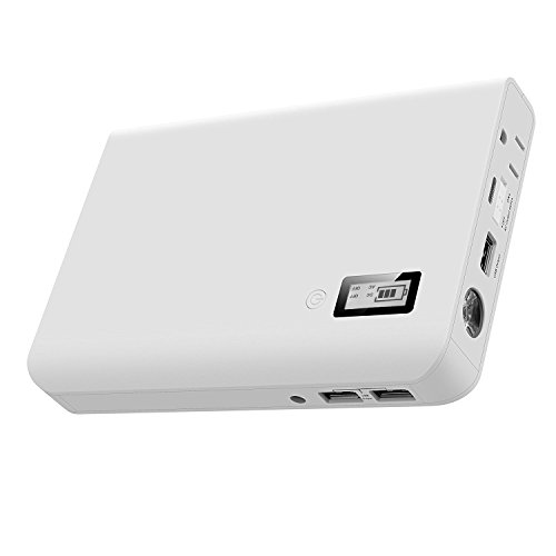 AIVANT 24000mAh Power Bank, Ultra-High Capacity External Battery Packs Portable Charger W/ AC Outlet and 3 USB Ports Fast Charging 5.4A Max Output for Smartphone Tablet and More(White) by AIVANT