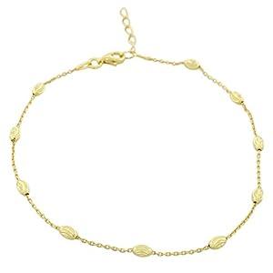 925 Sterling Silver Link Chain Anklet Bracelet