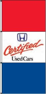 Certified Used Cars >> Honda Certified Used Cars Dealer Drape Banner Flag