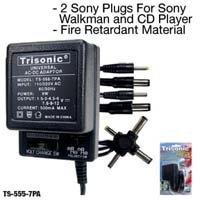 Trisonic 7 Way Universal Plug Ac/dc Adaptor 500 Ma by Trisonic