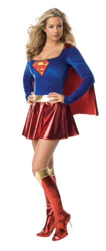 Secret Wishes  Supergirl Costume, Red/Blue,