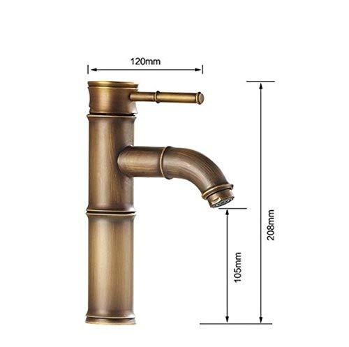 ROTOOY Wasserhähne Modernes Design Bambus Antik Messing Wasserhahn Fshion Waschtischarmaturen Bad Mischer Vintage Waschbecken Wasserhahn & Wasserhahn Wasserhähne