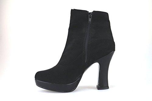 Chaussures Femme CARLA SANCHEZ Bottines Noir daim AJ680