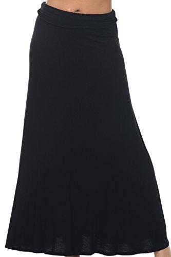 iliad USA Womens Casual Long High Waist Lightweight Maxi Skirts (XS-5XL)