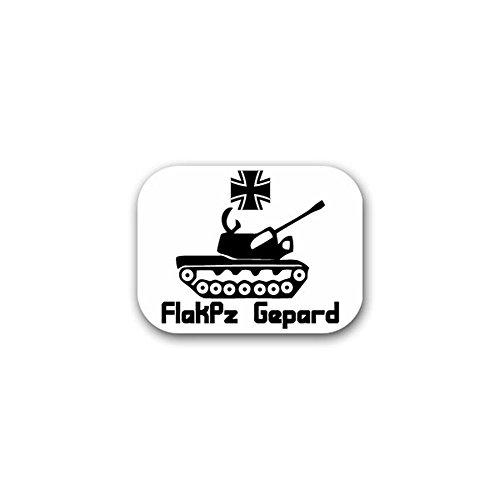 (FlakPz Gepard anti aircraft gun tank combat vehicle Germany Bundeswehr military badge emblem for Audi A3 BMW VW Golf GTI Mercedes (9x7cm) - Sticker Wall Decoration)