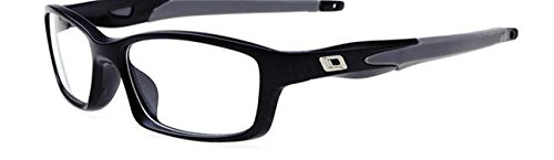 Full-rim TR-90 Flexible Rx-able Prescription Optical frame Eye Glasses,BlackB8029,50Centimeters