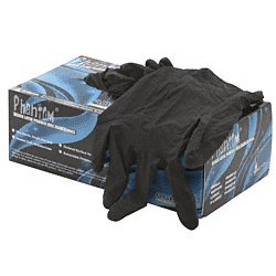CRL Medium Disposable Black Powder Free Latex Rubber Gloves by CR Laurence by C.R. Laurence
