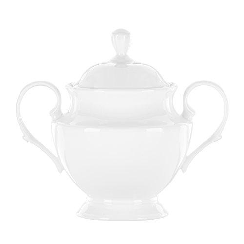 (Lenox Simply Fine White Sugar Bowl with Lid)