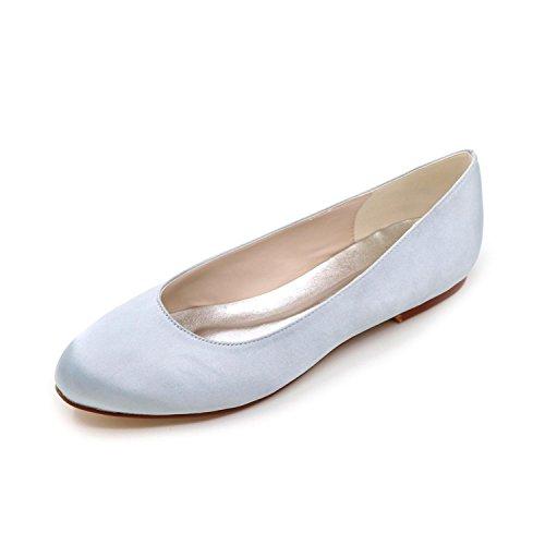 chaussures avec Large été Femmes automne de Satin hiver confortable Yards TC silver Multi Color printemps L mariage appartement Rn7ZqxEwB
