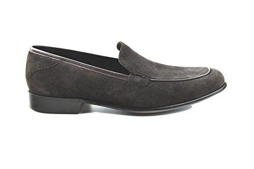 Prime Shoes Flexible Ocean Loafer Dunkelbraun Suede Testa di Moro aus feinstem Kalbsveloursleder Sacchetto