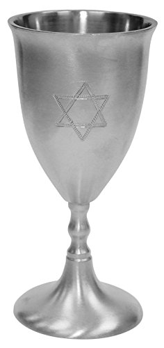 (Kiddush Cup Pewter Star Of David 5.5
