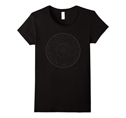 Womens Pentagram Satanic Sigil Devil T-Shirt (Limited Dark Design) Medium Black - Devil Womens Dark T-shirt