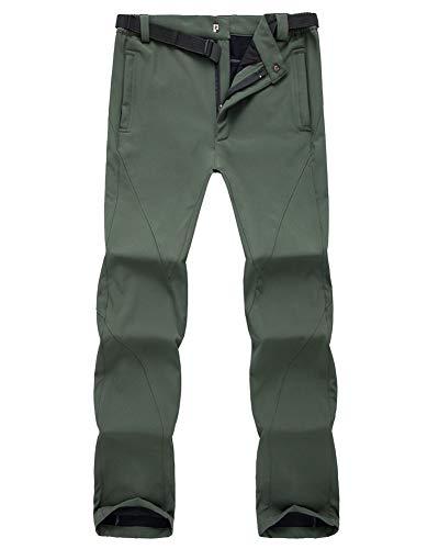 Velours Taille Hiver Armée Verte Hommes Respirant Ourdoor vent Toison Randonnée Plus Grande Carapace Femmes Automne Et Coupe Molle Sports Pantalon tqx7ZF