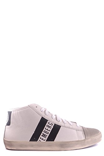 BIKKEMBERGS MEN'S MCBI042034O WHITE LEATHER HI TOP SNEAKERS (Shoes Bikkembergs Men)