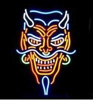 Neon princess Factory 24x20 inches Tattoo Devil Traditional Handmede Real Glass Tube Neon Light Home Beer Bar Pub Recreation Room Game Lights Windows Signs