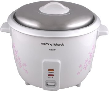 3f047e9ee6d Morphy Richards D55W 1.5-Litre 350-Watt Electric Rice Cooker (Floral Design  and