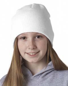 Ultraclub Unisex-child Knit Beanie 8131 -White - Beanie Ultraclub Knit