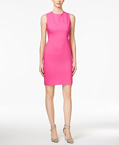 Blend Sheath Dress - Calvin Klein Women's Sheath with Starburst Detail Shocking Pink Dress
