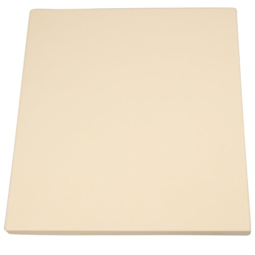 CucinaPro 815 Oven, Grill, BBQ-Rectangular Pizza Baking Stone-XL 16'' x 14'' Pan for Perfect Crispy Crust, Light Brown by CucinaPro (Image #4)