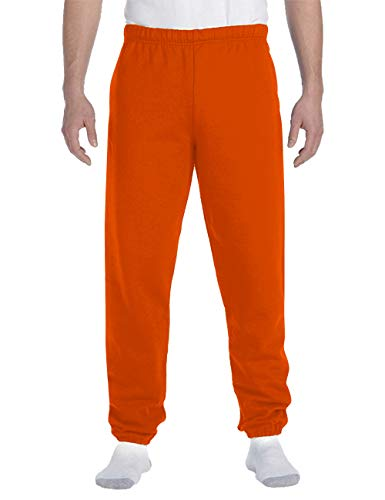 Hat and Beyond Mens Lightweight Sweatpants Elastic Pockets Jogger Pants (X-Large, 1ih02_Orange)