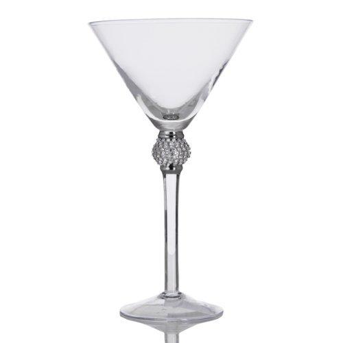 Home Essentials Home Essentials 9''h Silver Diamond Martini, , Clear
