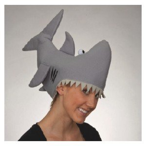 Animal Hat Costumes (Jacobson Hat Company Grey Shark Hat, Grey, Medium)