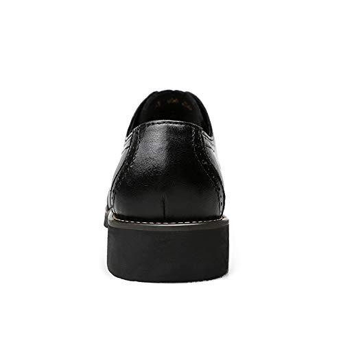 Pour Brogue La Noir Classiques Chaussures Sculptures Casual Confortable Respirantes Shennanji Britanniques À Mode Oxford Hommes tqXPw