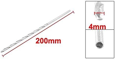 SALAKA Broca helicoidal de v/ástago Recto de 4 mm x 200 mm Brocas Extra largas para Taladro el/éctrico