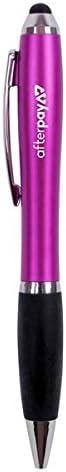 Plastic Twist Action Pen with Stylus GRN738 Business Stylus Pen quantity of 250. Min Black Ink