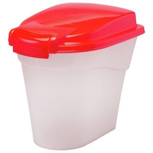 Petface Plastic Pet Food Storage Bin 10 Litre Red Amazoncouk