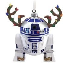 Hallmark Star Wars R2-D2 w/ Reindeer Antlers Christmas Tree Ornament