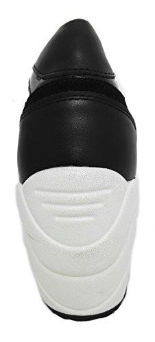 Zerimar Scarpe delle donnecon Aumentato Interno di 10 cmstile Sportivo Realizzata in Pelle di Alta Qualità 100% pelleColore Nero Taille 40