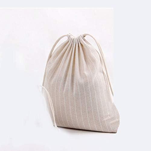 Bolsa de algodón a Rayas Regalo Candy Tea Mochilas con cordón ...