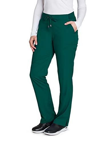 Grey's Anatomy 4277 Straight Leg Pant Hunter Green S Petite