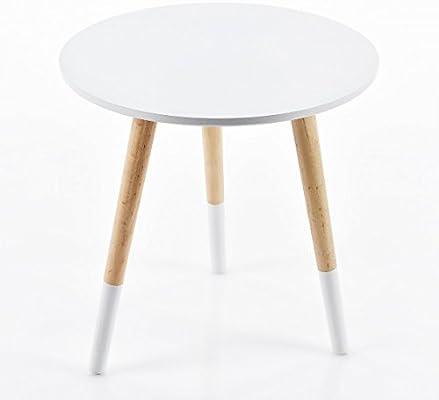 Beistelltisch Dreibeiner Weiss 40 X 39 Cm C131 Couchtisch Telefontisch Sofatisch Design Holz Tisch