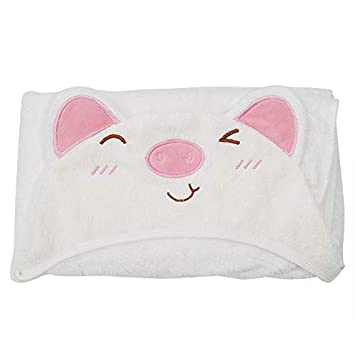 BABY HOODED TOWEL /& TOWEL GIFT SET 100/% COTTON CATS PINK GIRLS