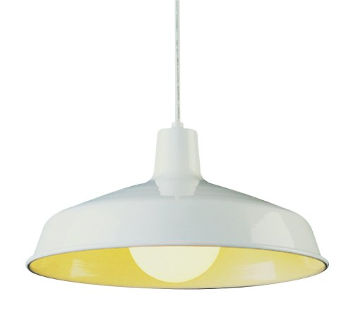 Trans Globe Lighting 1100 WH Indoor  Sherman 15.5'' Pendant, White by Bel Air Lighting