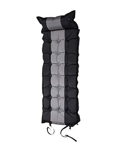 BESBOMIG Self Inflatable Sleeping Pad Airbed Pillow Travel Camping Mat Air Mattress