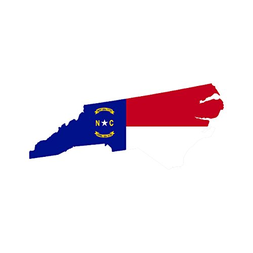 North Carolina State Shaped Flag Sticker Self Adhesive Vinyl Decal NC