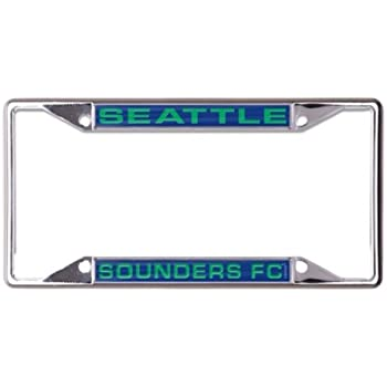 WinCraft MLS Seattle Sounders Metal License Plate Frame Inlaid Acrylic